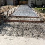 new outdoor concrete
